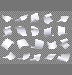 Flying paper pages falling papers documents vector
