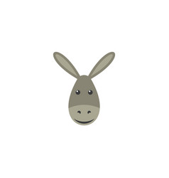 funny donkey face clipart design vector image