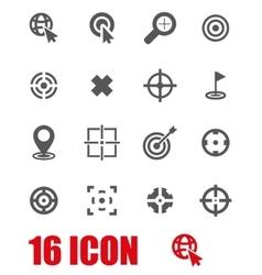 grey target icon set vector image