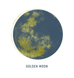 Halftone full moon stipple vector