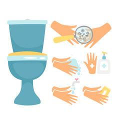 Hygiene after toilette flat vector