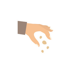Isolated hand flat icon sow element can be vector