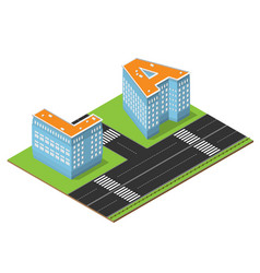 isometric la buildings vector image