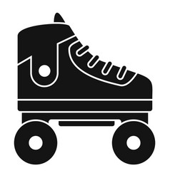 kid roller skates icon simple style vector image