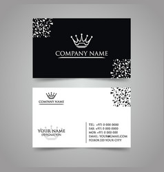 latest white business card vector image