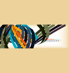 line abstract background modern template vector image