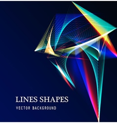 Lines shapes light abstract on blue dark vector