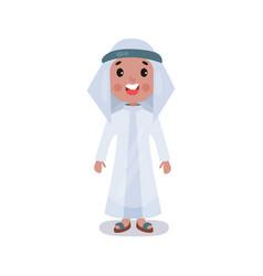 little boy wearing traditional costume of saudi vector image