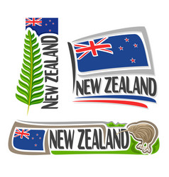 logo new zealand vector image
