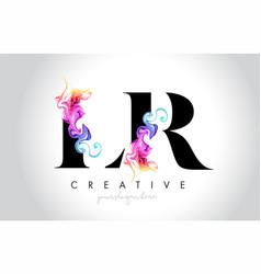 Lr vibrant creative leter logo design with vector
