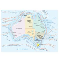 Map sea and coastal currents australia vector