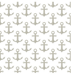 marine anchor seamless pattern nautical sea fabric vector image