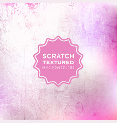 Marshmellow pink grunge background with scratch vector