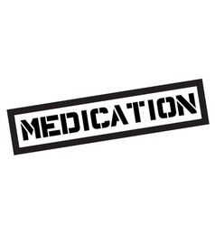medication typographic stamp vector image