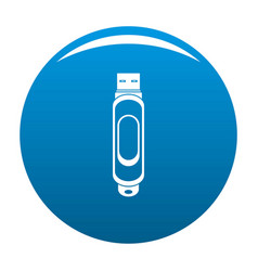mini usb icon blue vector image