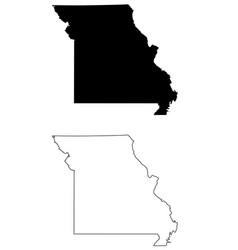 missouri mo state map usa vector image