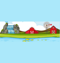 natural panorama farmland landscape vector image