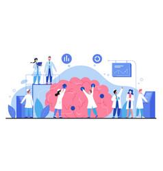 Neurology cartoon tiny doctor vector
