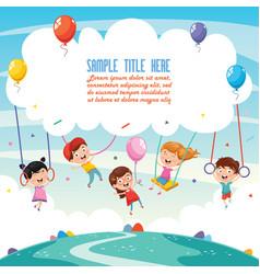 of children background vector image