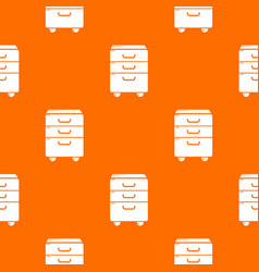 Office closet pattern orange vector