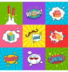 Party Labels Set vector