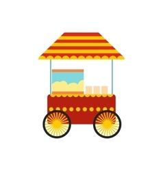 Popcorn cart icon vector