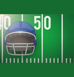 posters of american football field and helmet vector image