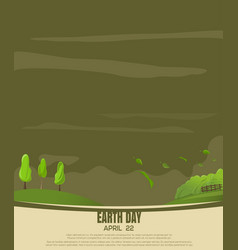 print design for earth day country landscape vector image