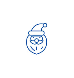 santa claus head line icon concept santa claus vector image