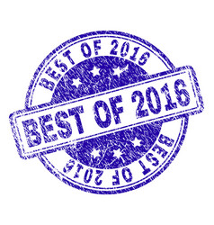 Scratched textured best of 2016 stamp seal vector