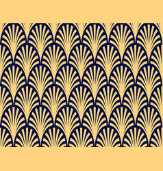 seamless abstract palm branch pattern vector image