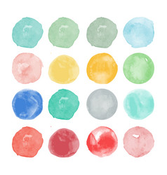 Set of watercolor shapes watercolors blobs vector