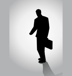 silhouette of businessman walking vector image