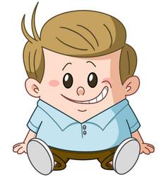 sitting kid vector image