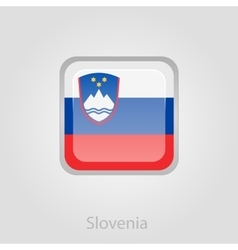 Slovenian flag button vector