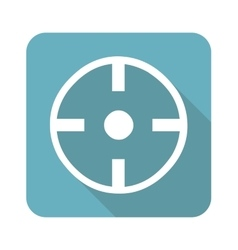 Square target icon vector