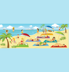 summer holiday by the sea vector image