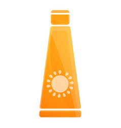 sunblock cream tube icon cartoon style vector image