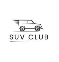 suv club logo template off road competition vector image