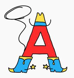symbol caricature letter vector image