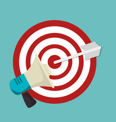 Target arrow isolated icon vector