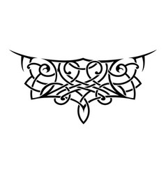 Tattoo shape in lace style vector