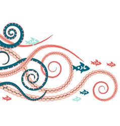 Tentacles an octopus vector