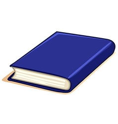 Thick book with blue cover vector