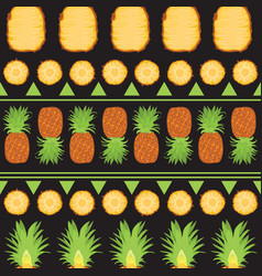 tropical summer seamless pattern of pineapples and vector image