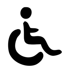 Wheelchair public icon image vector