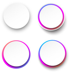 white round background templates with colorful vector image