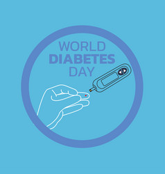 world diabetes day awareness vector image