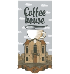 coffee house the best in town vector image