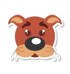 dog mascot cartoon isolated icon vector image vector image